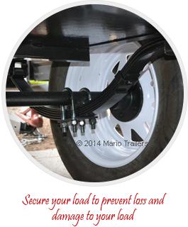 Secure your load to prevent loss and damage to your load
